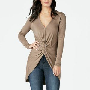 Wrap Front Tunic Top